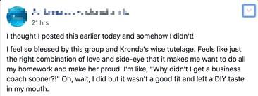 Adrianna's 'Love and side eye' testimonial